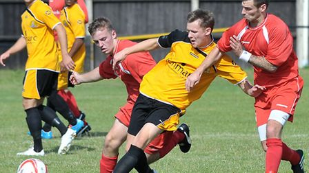 March Town football v Stowmarket Town. Picture: Steve Williams.