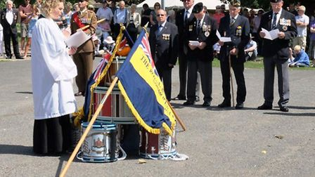 The drum head service carried out at the Walter Gidney Pavilion. Picture: ELIZABETH JOHNSTON