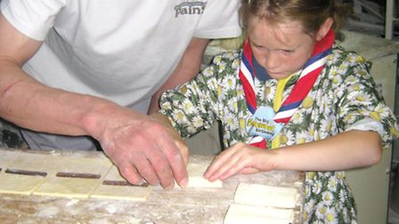 4TH March Brownies hop across to the channel to mark the big Brownie birthday. Daisy learning to mak