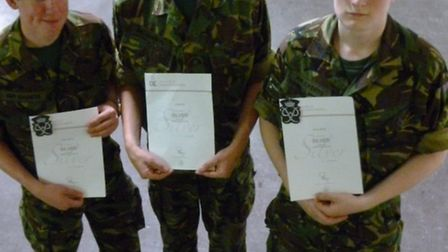 Sgt Sawyer, Cdt East and Sgt Martin from 999 Dunmow & District Squadron have gained their Silver Duk