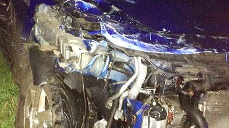 The Honda Civic in which Tania Macedo was a passenger.