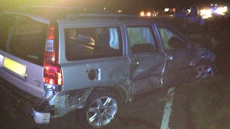 Three vehicles were involved in the collision, including a Volvo.
