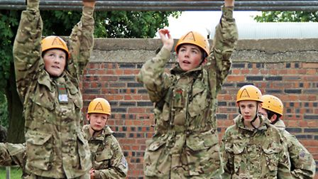 Cambridgeshire Army Cadets on Annual Camp. Thursday.