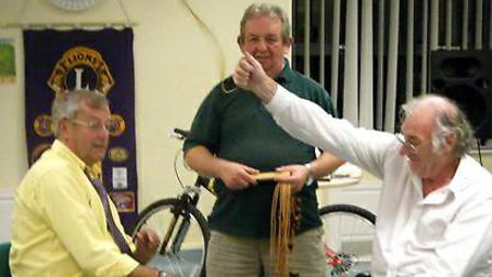 Lion Derek Rutter from March v Lion Don from Littleport at the Wisbech Lions Conkers Championships