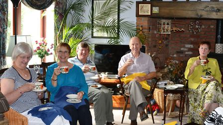 Anthea and Mike Fox's coffee morning, in Sutton.