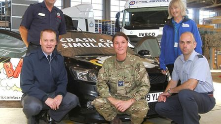 Safety training at RAF Wittering - do not text and drive