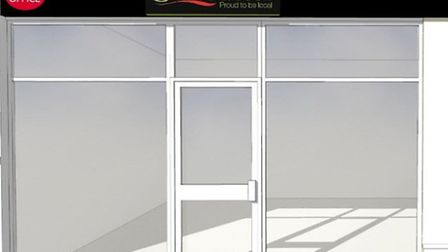 How the new convenience store and post office could look.