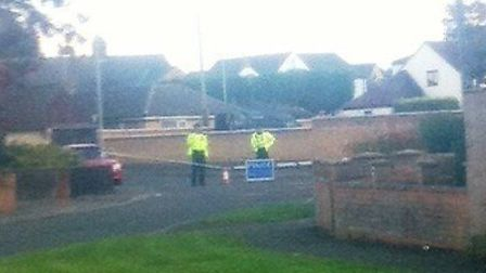 Police have sealed off Ponts Hill.