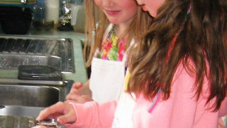 1st Leverington Brownies try their hand at cooking