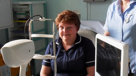Occular equipment bought by the Friends of Wisbech Hospital