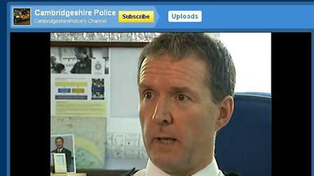 ON THE BOX: Chief constable Simon Parr in a YouTube clip.