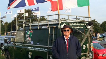 Martyn Wadsley in front of the Land Rover