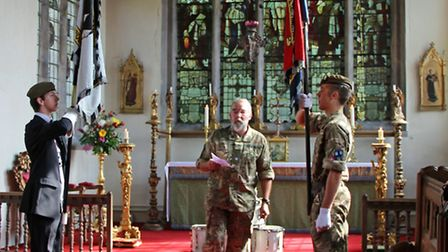 Standards at the Wisbech St Mary commemoration service