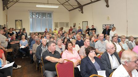 Public meeting about the Anaerobic digestion for Fengrain, Held at Wimblington parish hall.Picture: