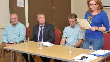 Public meeting about the Anaerobic digestion for Fengrain, Held at Wimblington parish hall. Left: Mi