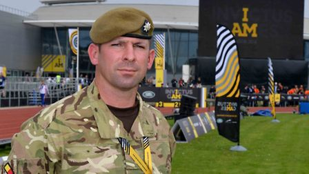 Colour Sergeant Matt Waters. Picture: CORPORAL ANDY REDDY.