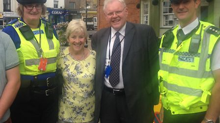 Sir Graham Bright (second from right) conducted a street surgery in March.