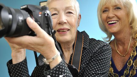 Ely Photographic Society Annual Exhibition, at the Cathedral Centre, club member Jenny Hodd, with El