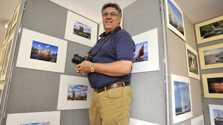 Ely Photographic Society Annual Exhibition, at the Cathedral Centre, Chairman Nick Bowman, with his