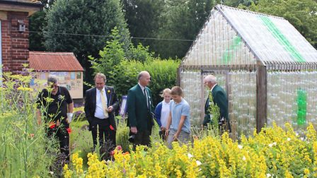 Judges at Alderman Payne school, Parson Drove for Anglia in Bloom