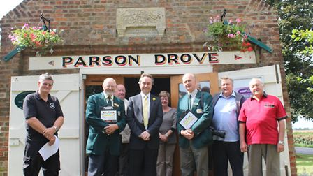 Parson Drove In Bloom group with judges for Anglia in Bloom