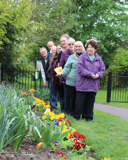 Some of the Benwick In Bloom group (taken in April) for Anglia in Bloom
