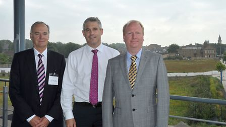 20/20 Vision meeting at the Boathouse Wisbech. Left: Cllr John Clark Leader of Fenland district coun