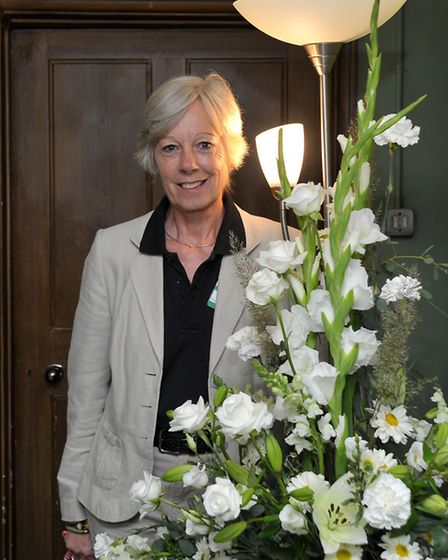 Flower festival at Peckover House, Wisbech. Visitor sevice assistant Barbara Jimson.Picture: Steve W