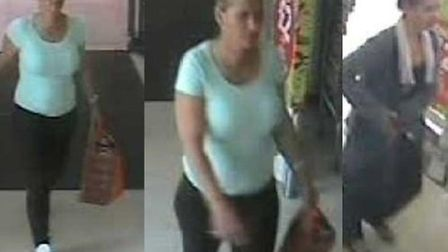 CCTV images of the two women police would like to speak to