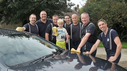 Chatteris charity car wash at their fire station.Picture: Steve Williams.