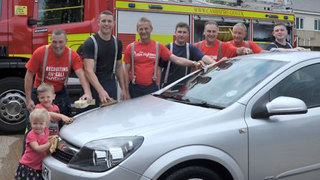 Whittlesey Fire station car wash.Picture: Steve Williams.