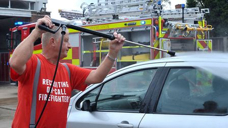 Whittlesey Fire station car wash. Picture: Steve Williams.