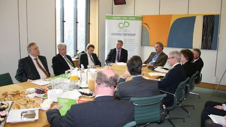 Steve Barclay at the LEP Briefing event. From left to right: Stewart Jackson MP, Andrew Lansley MP,