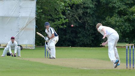 Wisbech cricket v Ramsey. Danny Haynes in bat for Wisbech. Picture: Steve Williams.