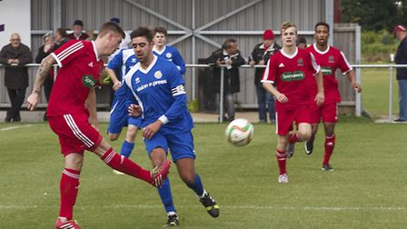 Wisbech v Kirkley and Pakefield in FA Cup. Picture: Barry Giddings.