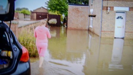 A collect photo of the flood wayers in Upwell. Picture: Submitted.