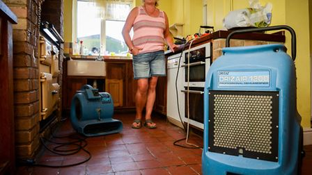 Lucy Housden in her flood affected home in Upwell. Picture: Matthew Usher.