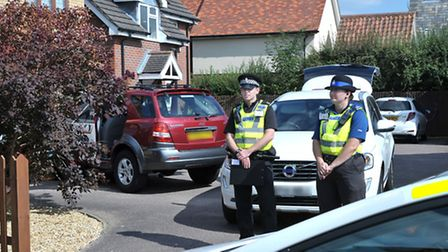 Police Search team at Longfields, Ely.Picture: Steve Williams.