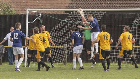 March football v Long Melford. Picture: Barry Giddings,
