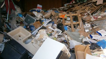 Skip operator Israr Ahmed's waste: his operations have cost him £47,000 and a suspended prison sente