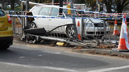 The crossing in Angel Drove was destroyed in the smash,