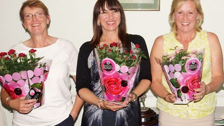 Left to right Jackie Henley, Sandra Parnell and Sue Stephens