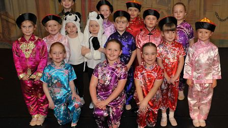 Vera Frances School of Dance rehearsals for Aladdin at Neale Wade Academy, March. Picture: Steve Wil