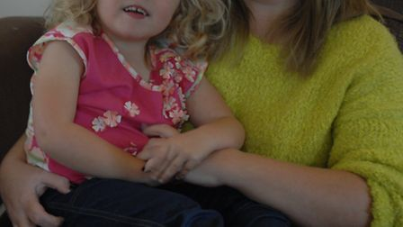 Olivia, four, with her mum Debbie Bowyer.