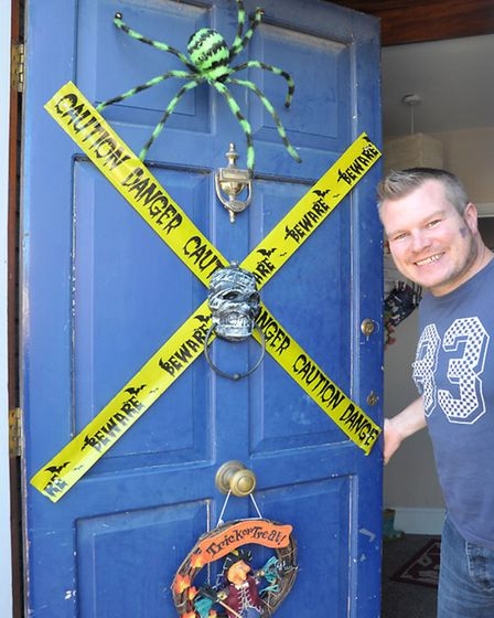 Halloween Spooktacular. Wisbech Rd March.Tommy Kelly at his front door.Picture: Steve Williams.
