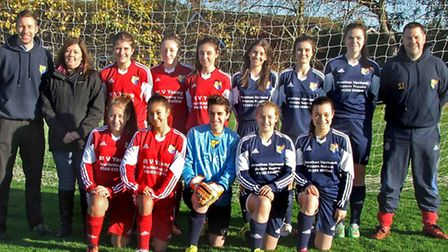 Estover Park Youth Under 18. Navy home kit supplied by Jonathan Upchurch Vehicle Repairs; Red away k