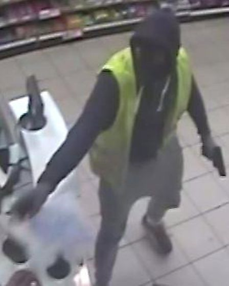 Police have released CCTV images after the attempted armed robbery.