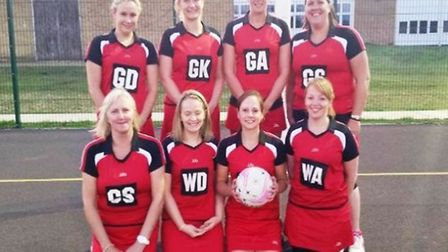 Ely Netball Club's second team.