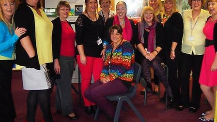 Staff wear their brightest clothes for Funky Friday.