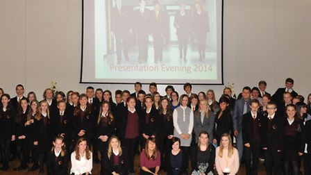 Students at Neale-Wade Academy's presentation evening. Picture: ROB MORRIS